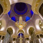 Die Decke der Scheich Zayid Moschee in Abu Dhabi