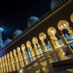 Sheikh Zayid Moschee in Abu Dhabi bei Nacht
