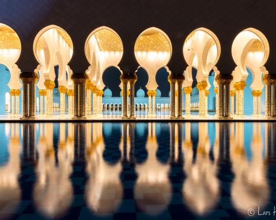 Sheikh Zayid Moschee in Abu Dhabi