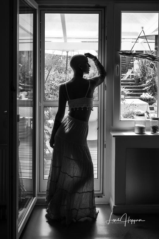 Silhouette des Models LaLuna Nadine