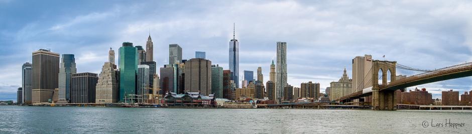 Brooklyn Bridge - Skyline von Manhatten