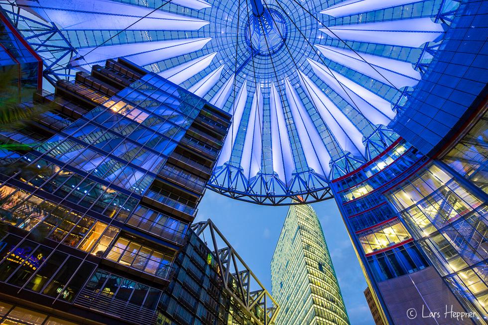Das Dach des Sony-Centers in Berlin
