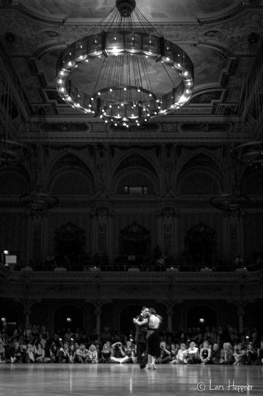 Tango Tänzer in schwarzweiss