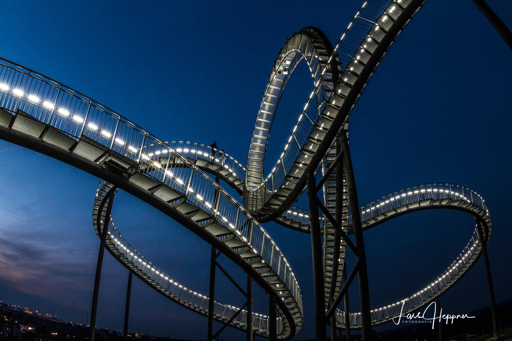 Industriekultur bei Nacht - Fotokurs im Landschaftspark Duisburg