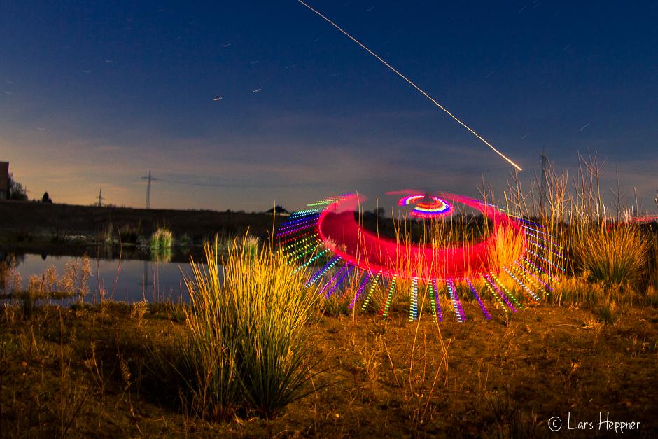 Light Painting Fotografie: UFO