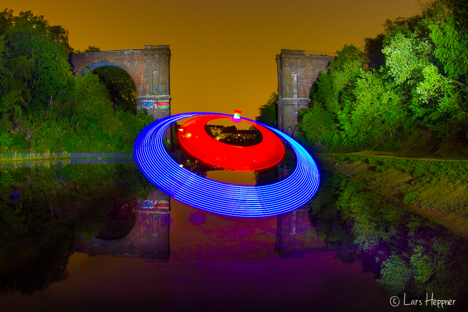 Lightpainting: UFO in Dortmund