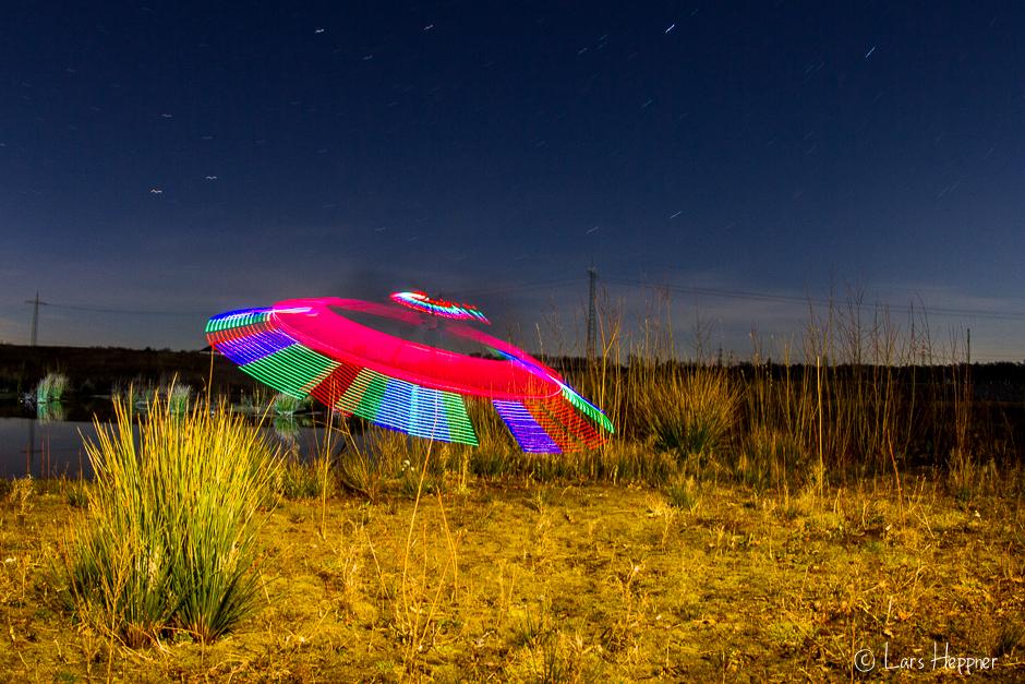 Light Painting: Ufo Landung