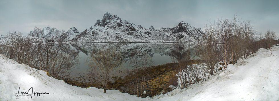 Vatseralen Schnee Panorama