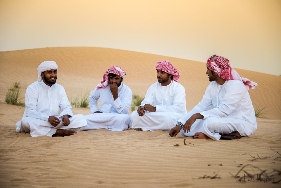 Beduinen in der Wüste von Abu Dhabi