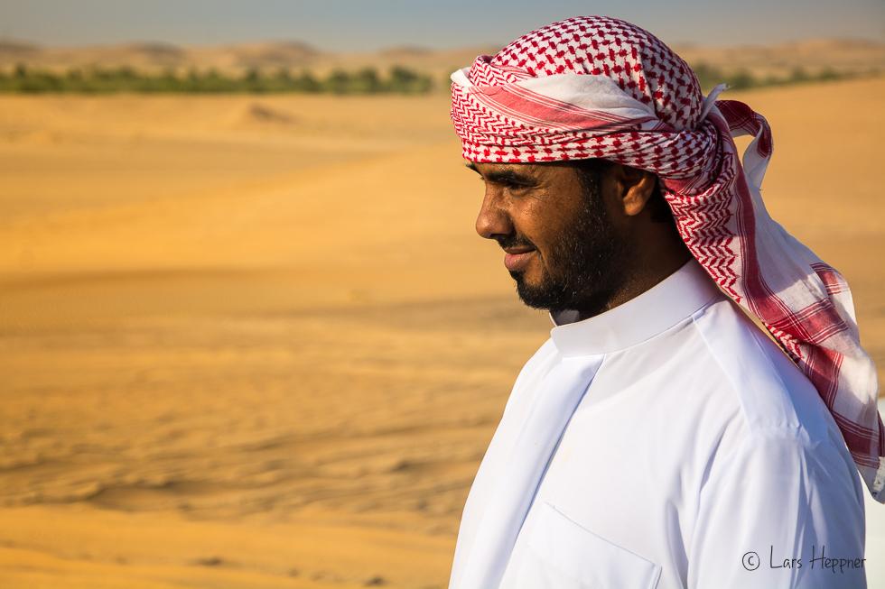 Ein Portrait in der Wüste